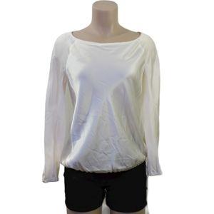 Boss hugo boss 100% silk cream blouse size 8 Med